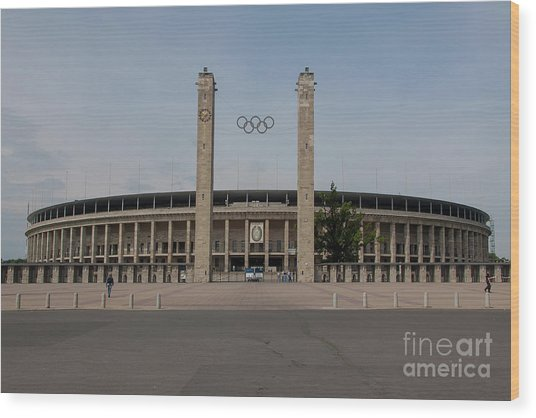 Berlin Olympic Stadium Wood Print