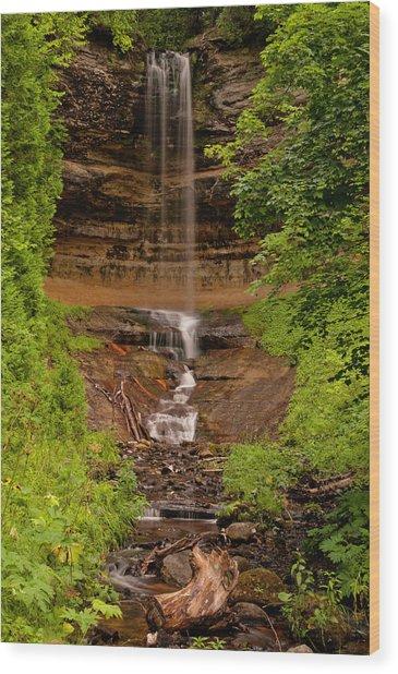 Munising Falls Wood Print
