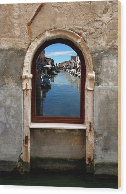 Murano Reflection Wood Print