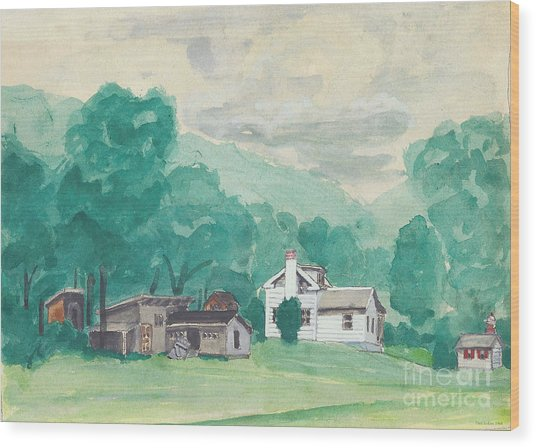 Murray Hollow Farm Wood Print