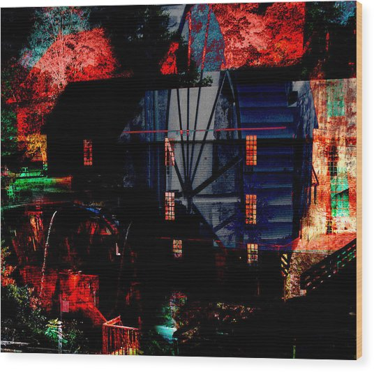 Murrays Mill Revisited Wood Print by MW Robbins