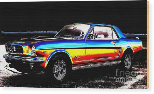Muscle Car Mustang Wood Print