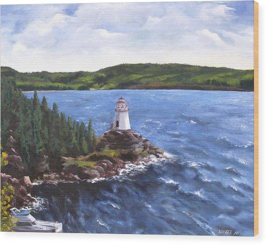 Musgravetown Lighthouse Wood Print