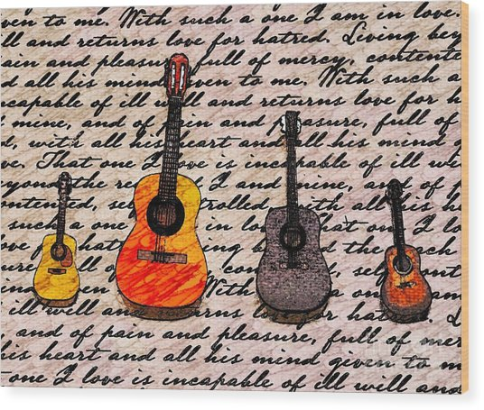 Music And Poetry By Jasna Gopic Wood Print