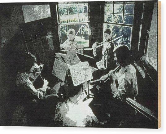 Music As Light Wood Print by Randy Sprout