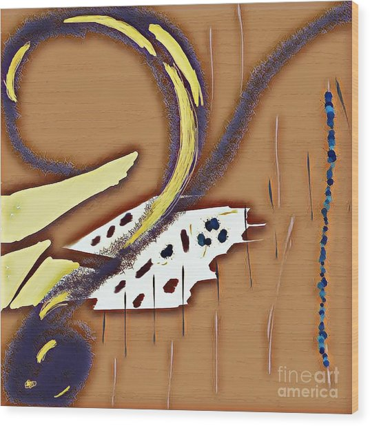 Music Note Wood Print