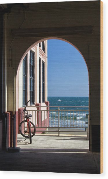 Music Pier Doorway View Wood Print