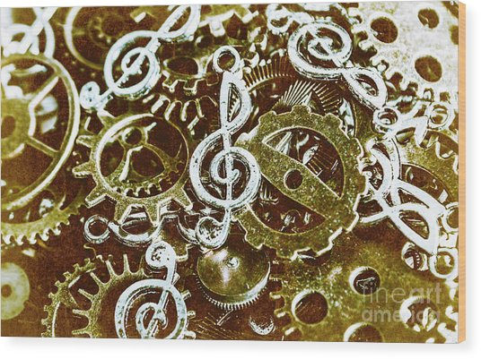 Music Production Wood Print