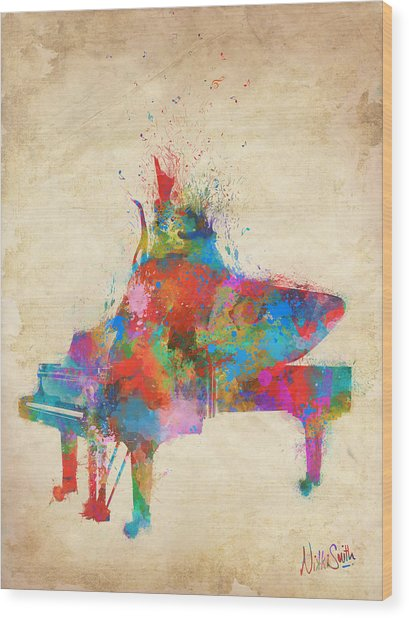 Wood Print featuring the digital art Music Strikes Fire From The Heart by Nikki Marie Smith