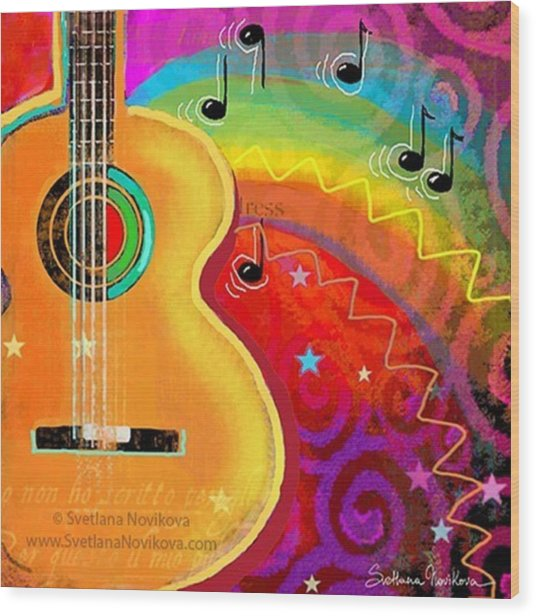 Musical Whimsy Painting By Svetlana Wood Print