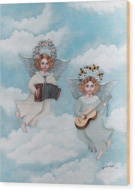 Musician Angels Wood Print