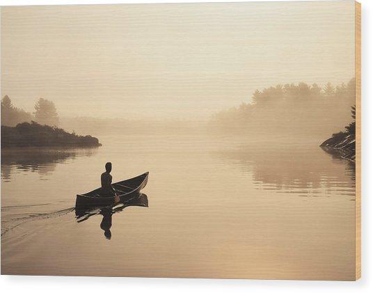 Muskoka Morning Wood Print