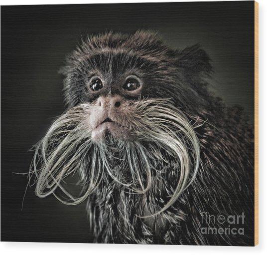 Mustache Monkey IIi Altered Wood Print