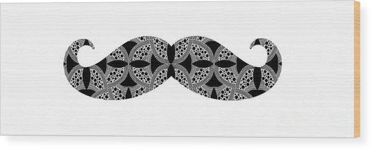Mustache Tee Wood Print