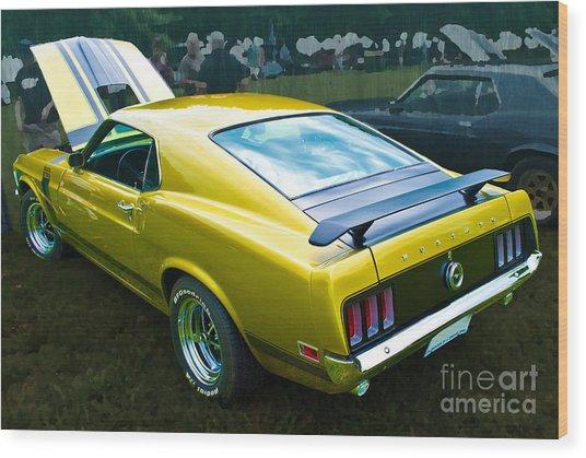 Mustang Boss 302 Wood Print