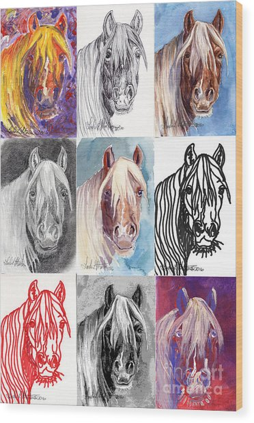 Mustang Mare 1154 Wood Print