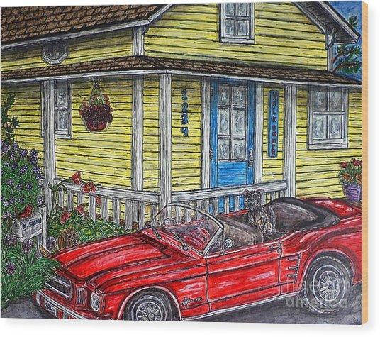Mustang Sallys' Place Wood Print