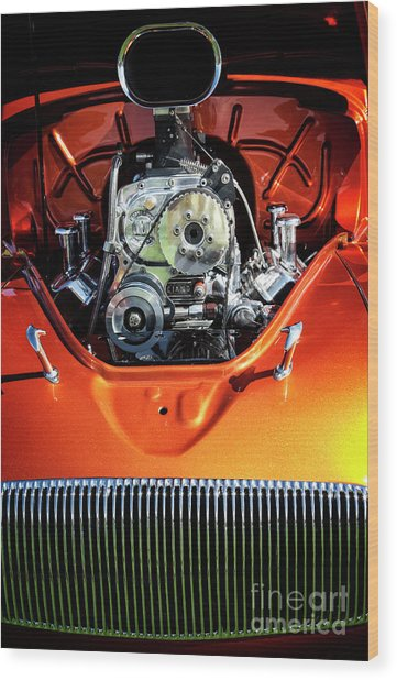 Wood Print featuring the photograph Muscle Engine by Scott Kemper