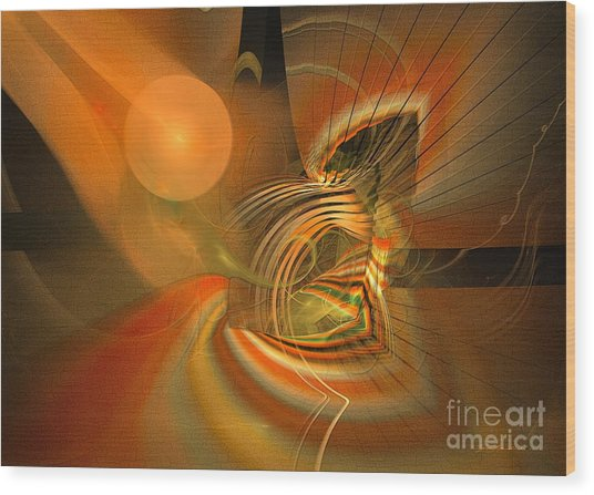 Wood Print featuring the digital art Mutual Respect - Abstract Art by Sipo Liimatainen