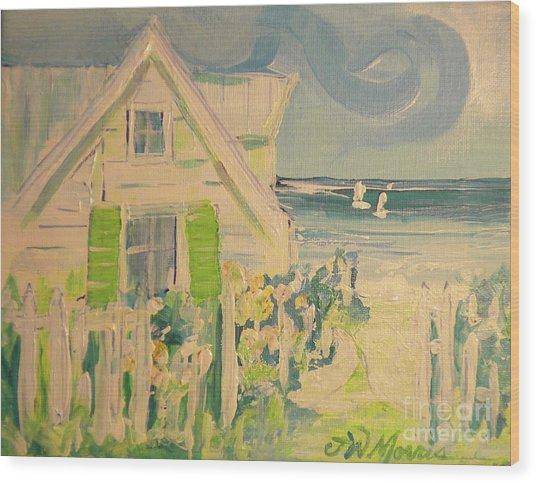 My Beach Cottage At Siesta Key Wood Print