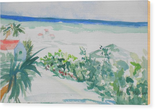 My Beach Cottage In Siesta Key Wood Print