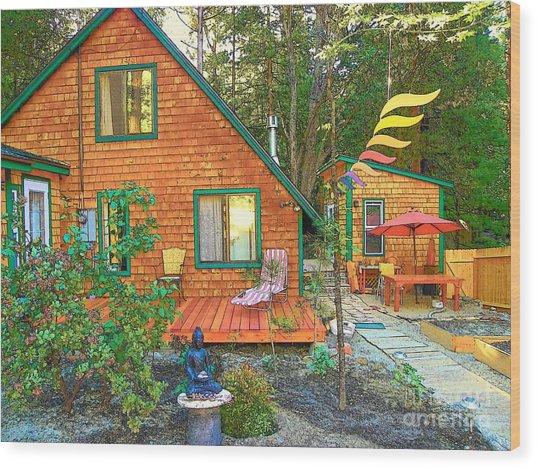 My Cabin Wood Print by Lisa Dunn
