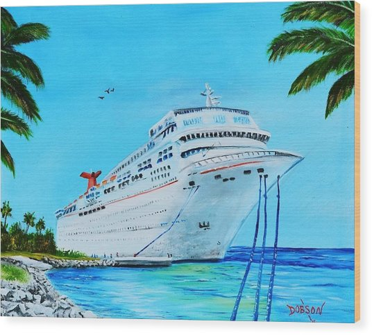 My Carnival Cruise Wood Print