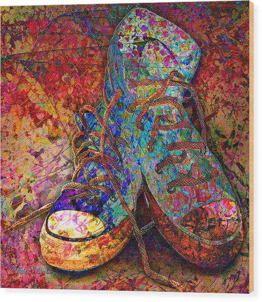 My Cool Sneakers Wood Print