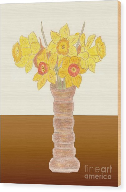 My Daffodils Wood Print