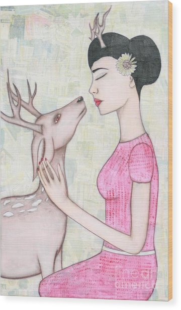 My Deer Wood Print