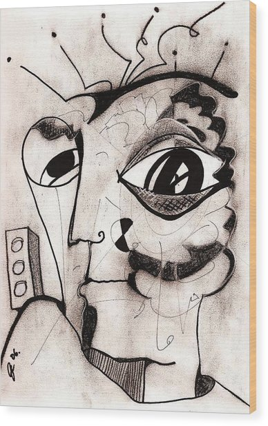My Eye Is On You Wood Print by Jimmy King