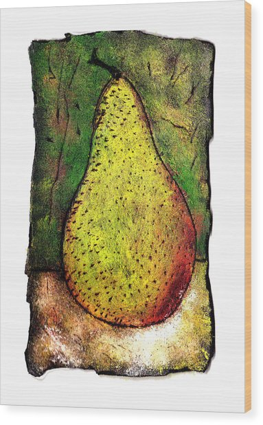 My Favorite Pear One Wood Print