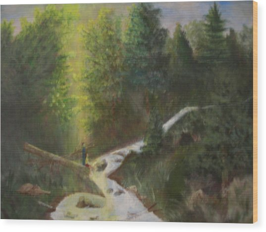 My Favorite Spot Wood Print by Jack Hampton