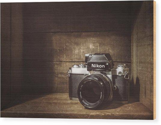 My First Nikon Camera Wood Print