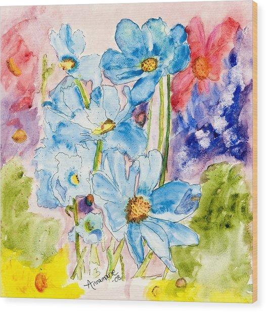 My Flower Garden Wood Print