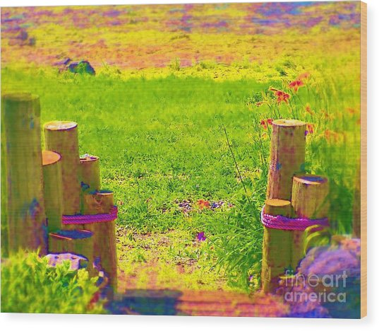 My Garden Dream Wood Print by Deborah Selib-Haig DMacq
