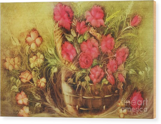 My Garden Of Roses Wood Print by Fatima Stamato