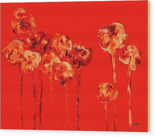 My Garden - Red Wood Print