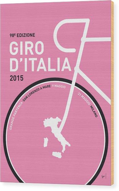 My Giro D'italia Minimal Poster 2015 Wood Print