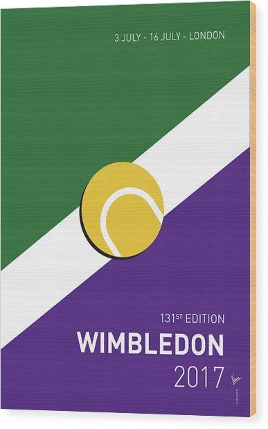 My Grand Slam 03 Wimbeldon Open 2017 Minimal Poster Wood Print