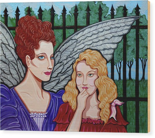 My Guardian Angel Wood Print