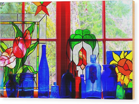 My Kitchen Window Wood Print