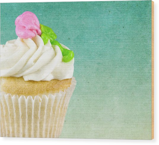 My Little Cupcake Wood Print