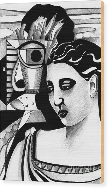 My Outing With A Young Woman By Picasso Wood Print