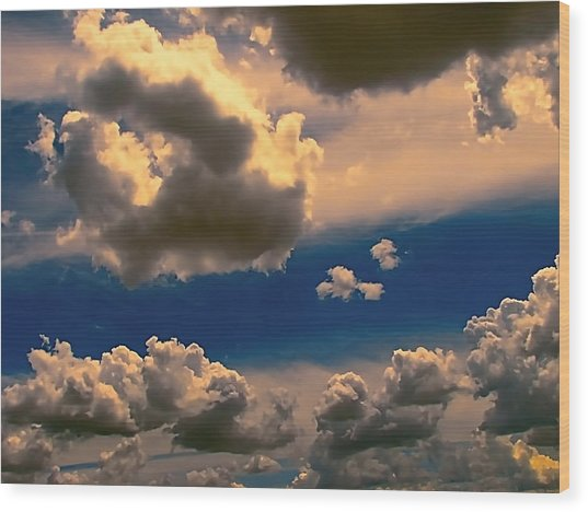 My Sunset Sky Wood Print by Wendy J St Christopher