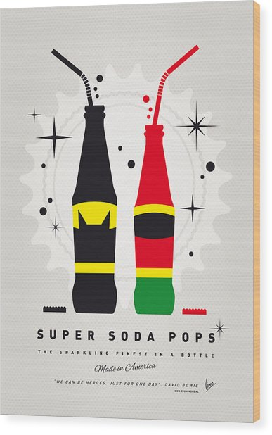 My Super Soda Pops No-01 Wood Print