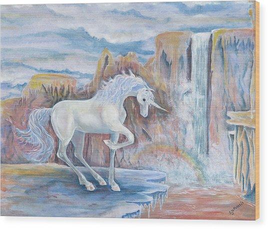 My Unicorn Wood Print