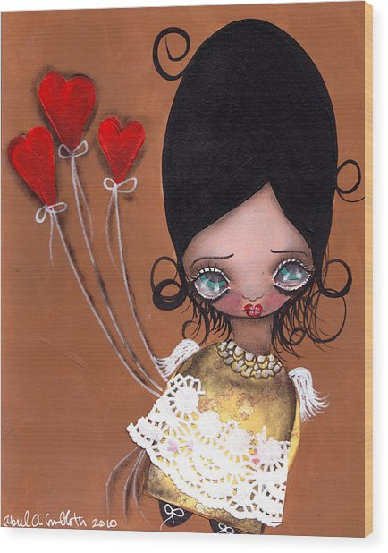 My Valentine Wood Print by  Abril Andrade Griffith