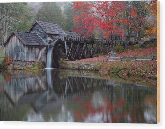 My Version Of Mabry Mills Virginia  Wood Print