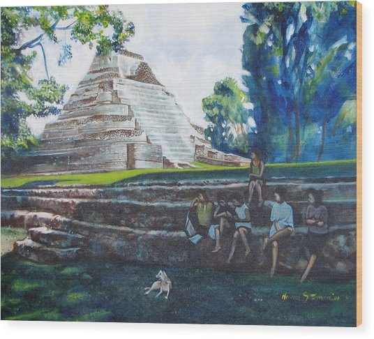 Myan Temple Wood Print by Howard Stroman
